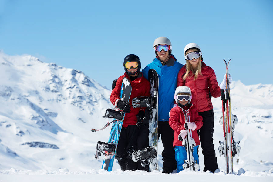 Family ski gear rental from The Shed Ski Hire, Jindabyne